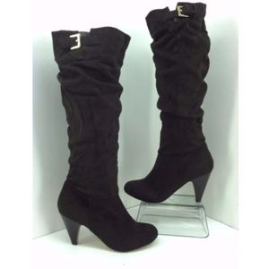 Zigi Soho Cadall Brown Faux Suede Boots New